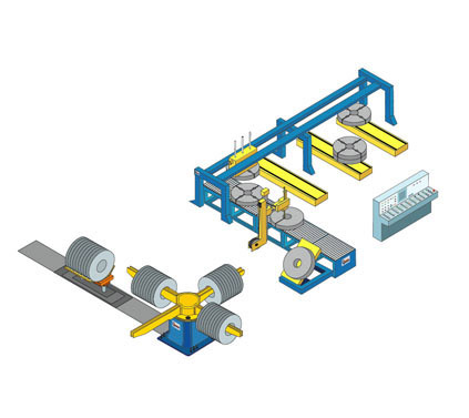 Packaging and stacking line