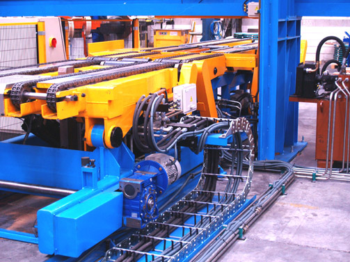Coil Downender machine on Vertical arrangement.