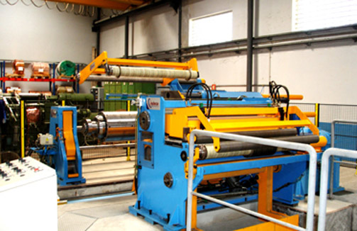 Unit fixed voltage. Slitting line 1500 x 3 mm x 150 m / min. Stainless Steel.