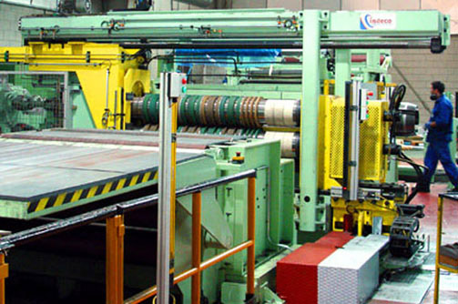 Slitting line for stainless steel of 1500 mm x 4 mm x 150 m/min