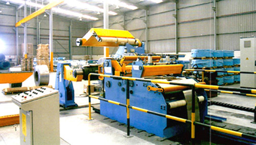 Tension unit for slitting line