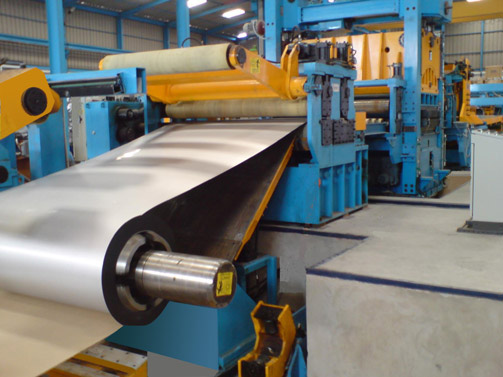 Decoiler & Inlet area of Cut to Length Line for Stainless Steel strip of 2000 x 12 mm