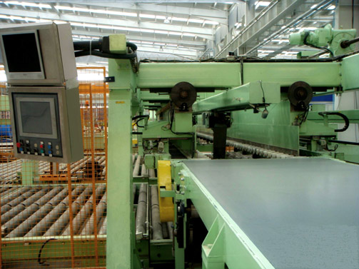Inspection Conveyor & Bomb-door stacker for stainless strip 1500 x 3 mm