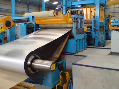 Decoiler & Inlet area for Cut to Length Line for stainless steel strip 1500 x 10 mm
