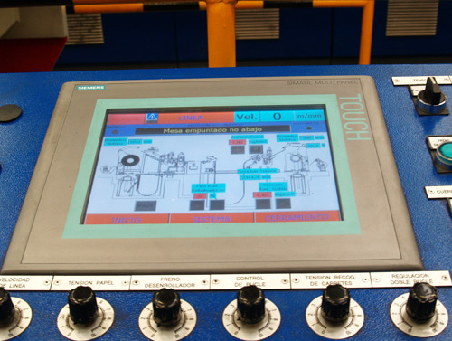Touch Screen supply for Control Desk for Slitter, Stainless Steel at speed of 300 m/min